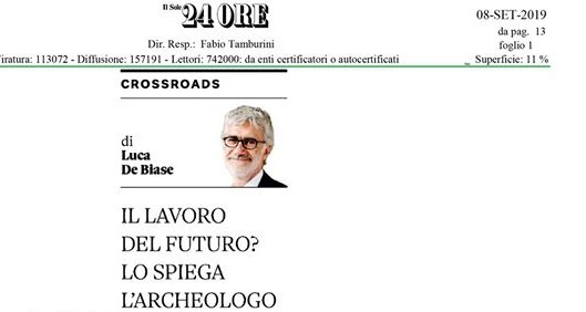 Review in the journal Sole 24 ore