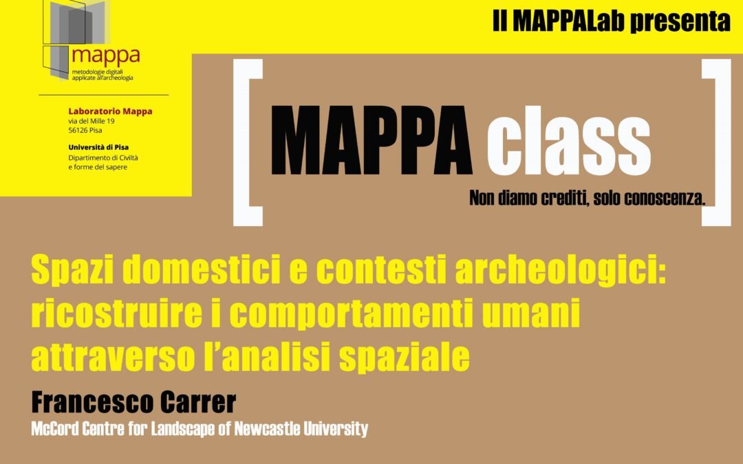 "MAPPA Class – Domestic spaces and archaeological contexts: reconstructing human behaviour through spatial analysis – ""R"" live demo"